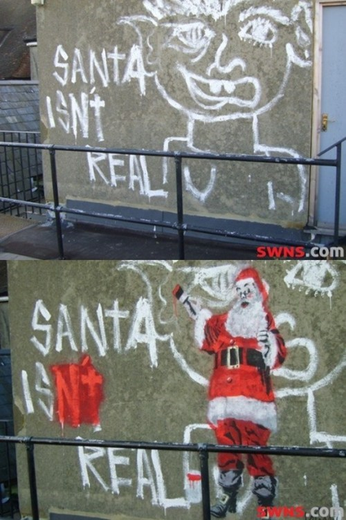 christmas graffiti santa holidays