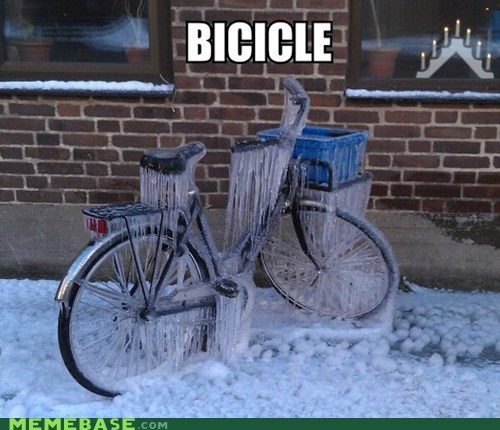 cold puns icicle winter bike - 6880925952