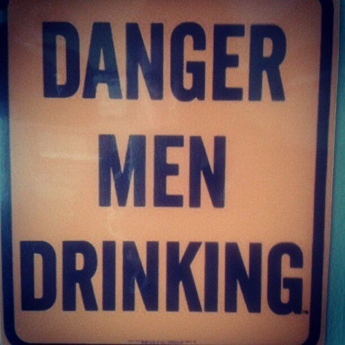 men drinking alcohol danger dangerous