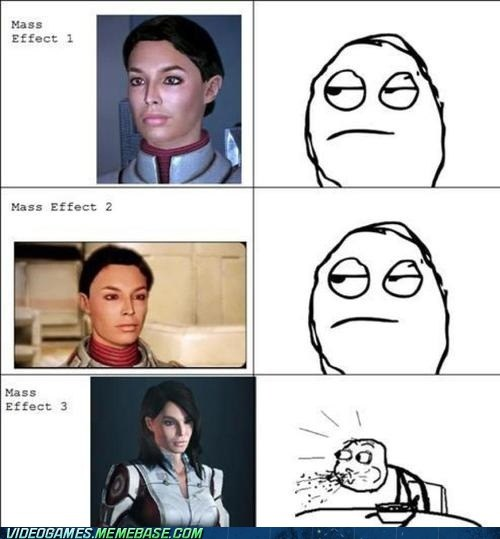 kaiden,mass effect,ashley,Rage Comics