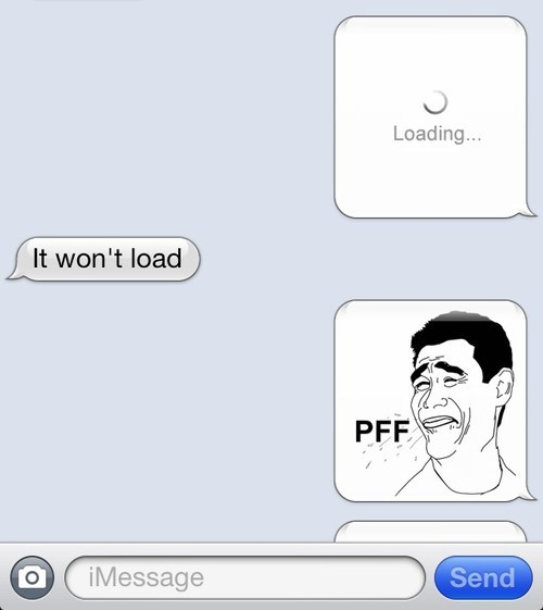 iPhones waiting trolled loading