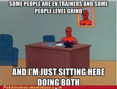 pokemon gamers,EV training,grinding