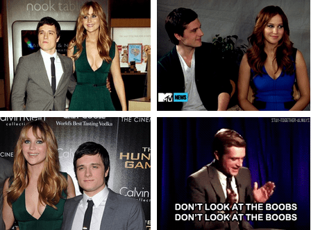 actor,jennifer lawrence,josh hutcherson,funny