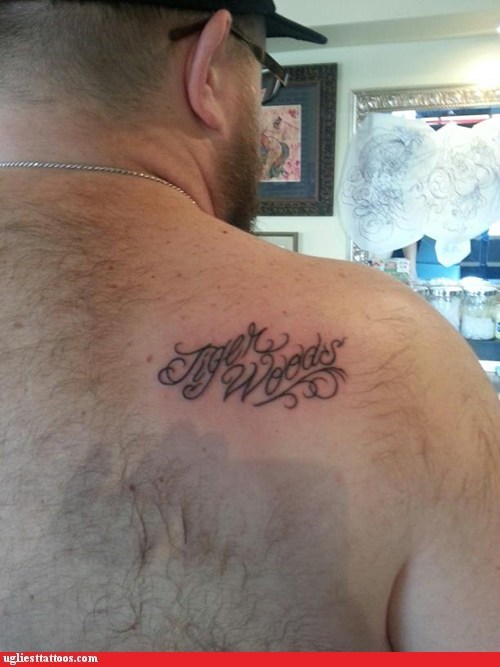 back tattoos Tiger Woods - 6881257728