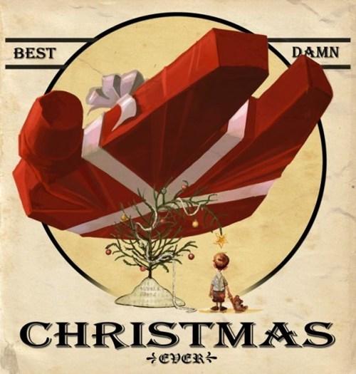 christmas,present,Fan Art,Han Solo,millennium falcon