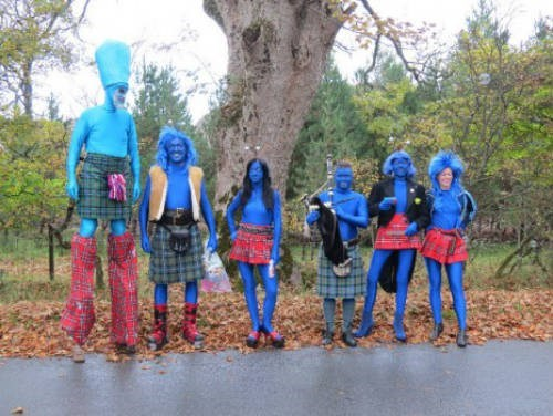 kilts blue outfits spandex - 6881374720
