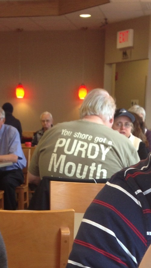purdy mouth,t shirts,deliverance