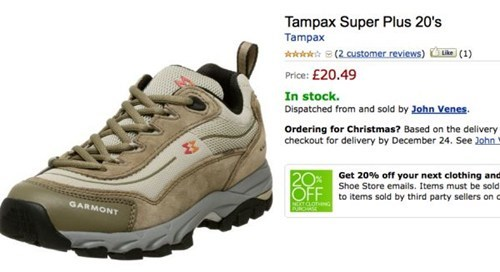 shoes amazon shopping tampons