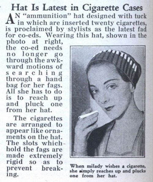 smoking hat vintage newspaper - 6881429504