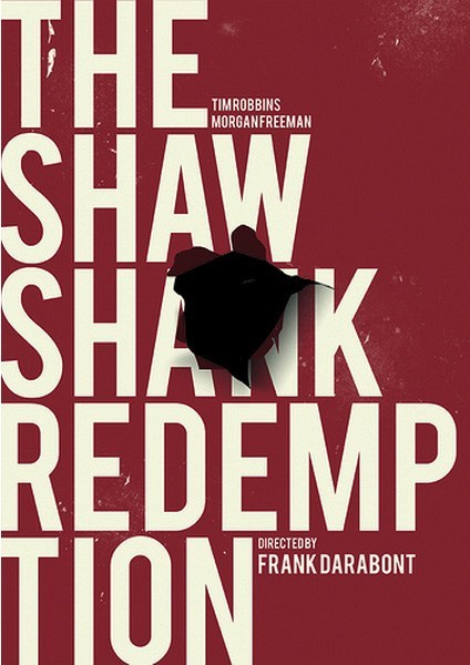 minimalist poster Movie the shawshank redemption