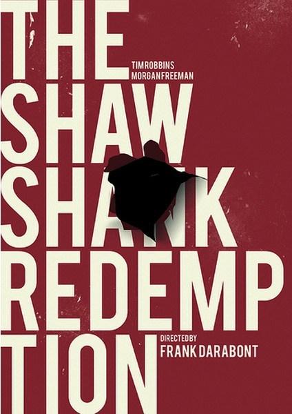 minimalist poster Movie the shawshank redemption - 6881532928