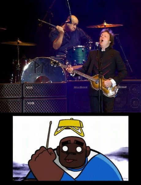 goriilaz,paul mccartney,drummer