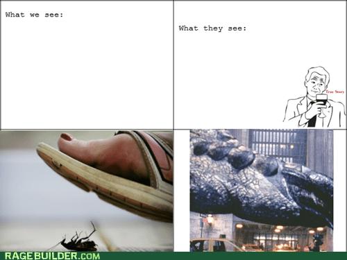 bugs,godzilla