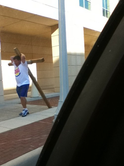 cross shirt burger king crucifixion fail nation g rated - 6881629184