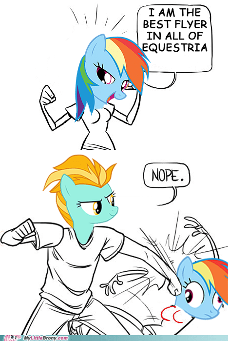 best flyer,lightning dust,nope,rainbow dash