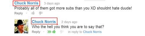 comments youtube chuck norris