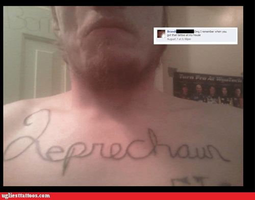 facebook,leprechaun,chest tattoos
