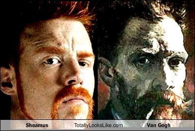 wrestler,artist,TLL,sheamus,funny,Vincent van Gogh