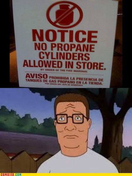 sign,propane,hank hill,TV,King of the hill