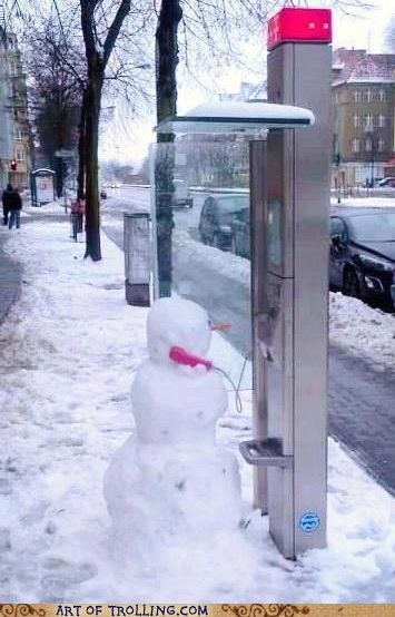 hello this is dog winter payphone snowman - 6882935296