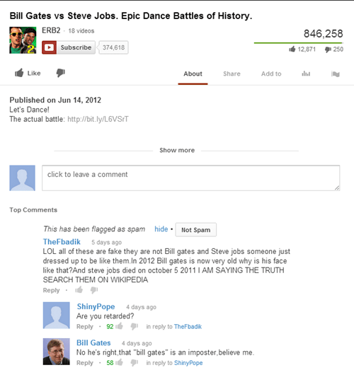 real comments youtube Bill Gates - 6883203840