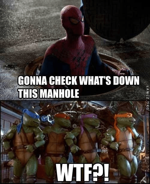 Spider-Man sewer TMNT - 6883394048