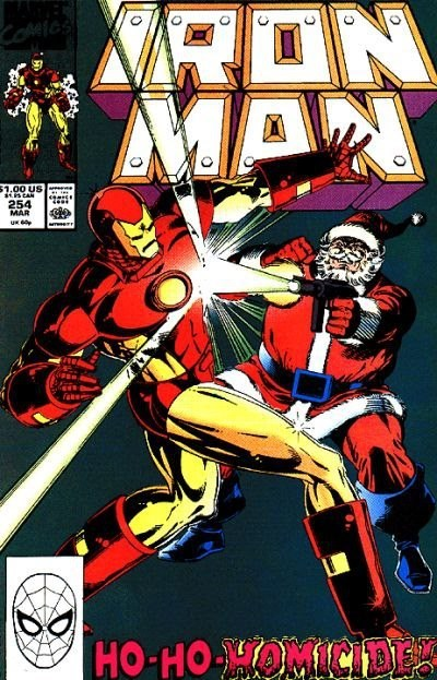wtf fight iron man santa - 6884000000