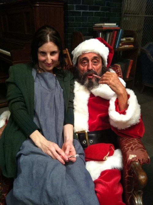 christmas,american horror story,actor,Ian McShane,santa,funny,holidays,g rated,sketchy santas