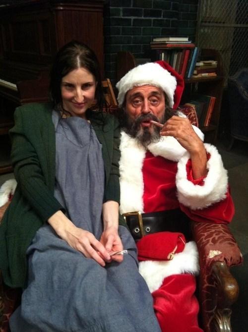 christmas american horror story actor Ian McShane santa funny holidays g rated sketchy santas - 6884024832