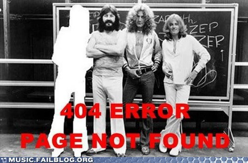 led zeppelin,Jimmy Page,404 error