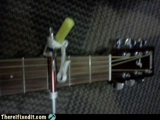 guitar,pen,soliders,capo