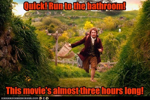 long,Martin Freeman,Bilbo Baggins,run,Movie,The Hobbit,bathroom