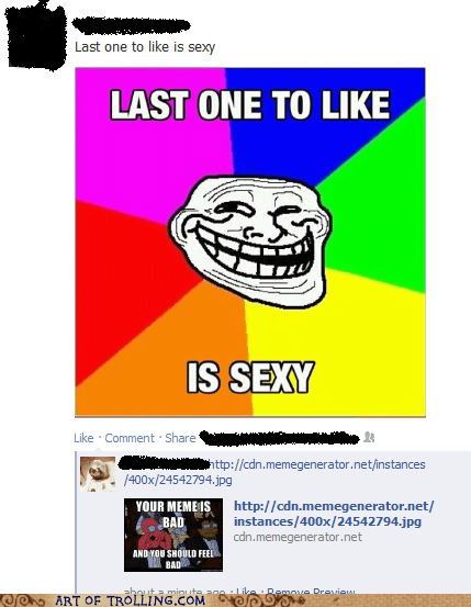 your meme is bad facebook troll face Zoidberg - 6884482304
