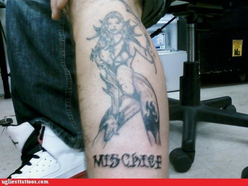 leg tattoos,sexy tattoos,mischief