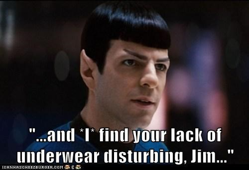 disturbing Spock Zachary Quinto Star Trek underwear - 6885262592