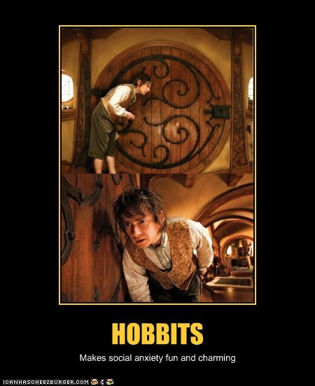 fun social anxiety door Martin Freeman Bilbo Baggins The Hobbit charming