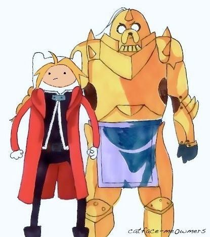 Fan Art,fullmetal alchemist,crossover,adventure time
