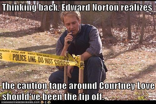 edward norton tip courtney love caution tape red dragon - 6887686400