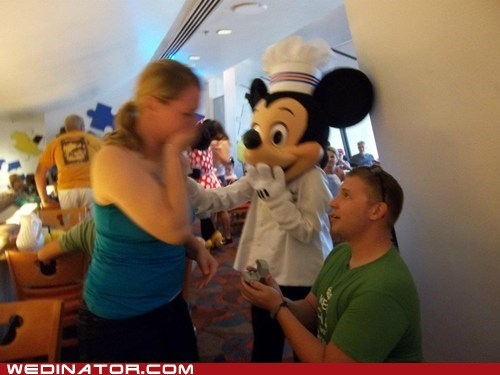 mickey mouse disney world proposal surprise