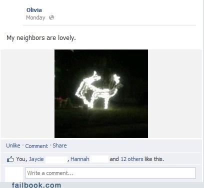 neighbors christmas decorations reindeer - 6889053696
