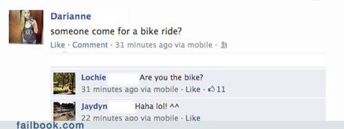 bike ride,Awkward,uncomfortable