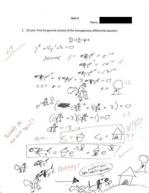 terrible,teachers,never again,test humor,math