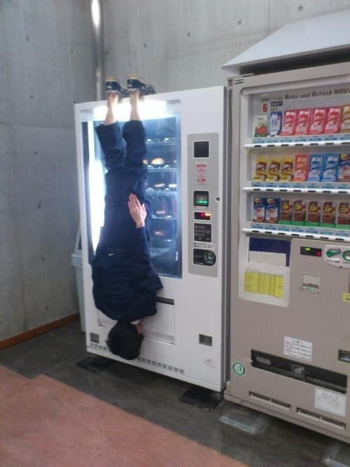 am i doing it right,vending machine,upsidedown