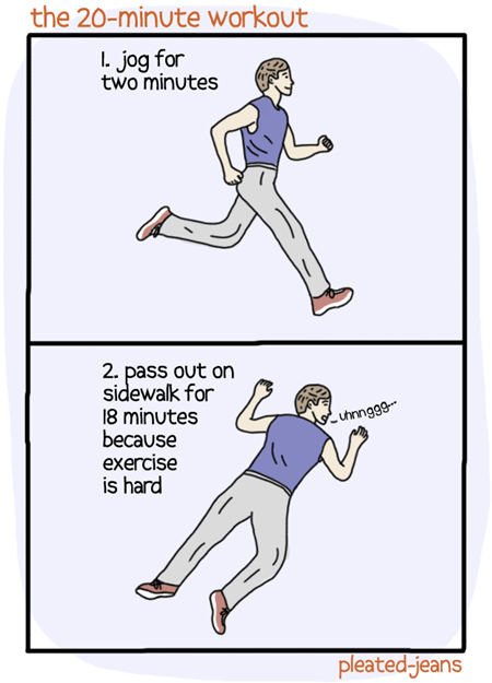 minutes workout jogging exercise twenty