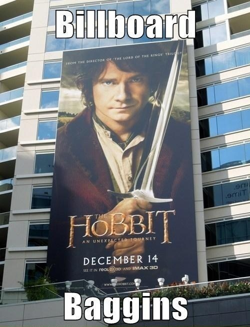 baggins,billboard,bilbo,unexpected,The Hobbit
