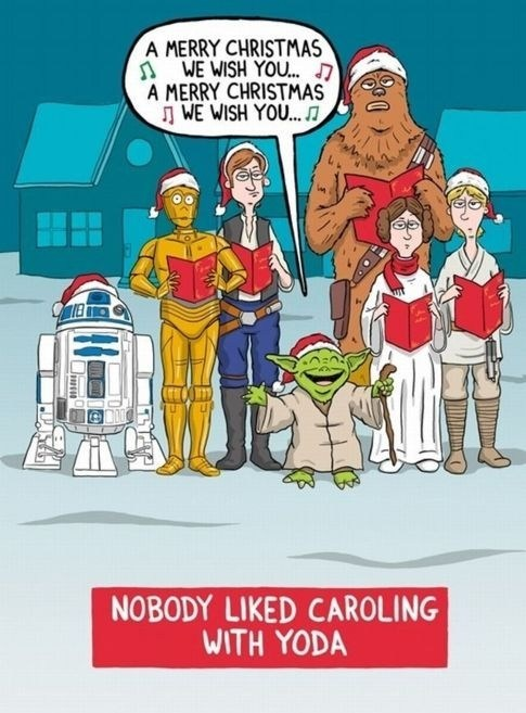 christmas caroling star wars - 6890640896