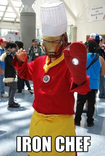 puns chef iron man