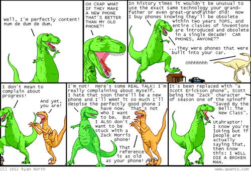 new technology,apple,dinosaur comics