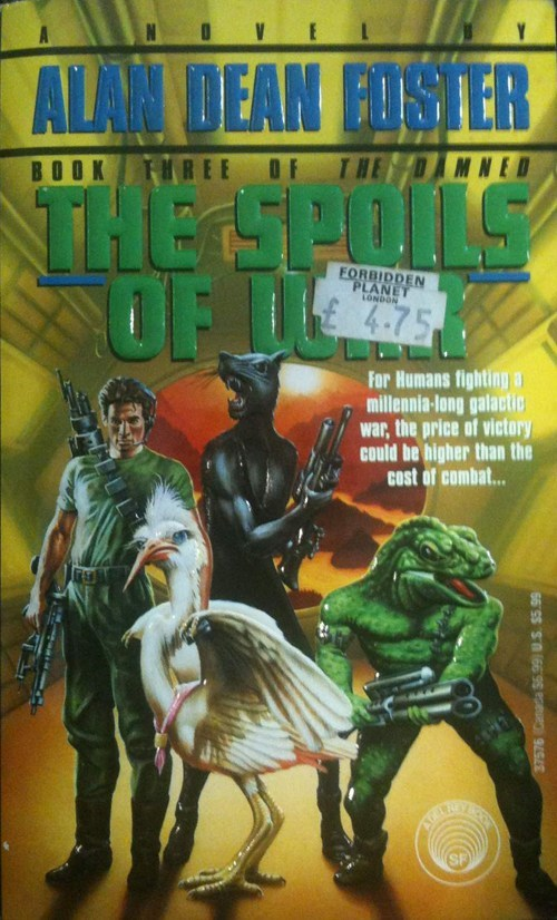 swan wtf war cover art sci fi books spoils bird