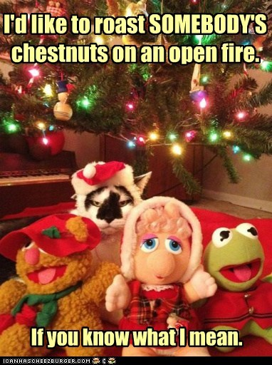 I'd like to roast SOMEBODY'S chestnuts on an open fire. If you know what I mean.